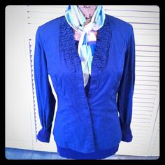 The Limited Blouse Blue button down blouse is from The Limited. The Limited Tops Button Down Shirts