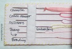 The Right Embroidery Needle - C&T Publishing