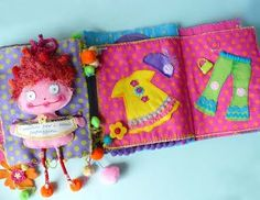 Fabric books to flip over. Inspiration reins here Kovyrzina Kovyrzina Fiore Quite Book Patterns, Felt Quiet Books, Collage Illustration, Kids Church, Felt Hearts, Felt Dolls, Softies, Craft Gifts, Sewing Patterns