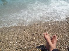 Chilling on a pebble beach in Nice, France http://newplacesnewexperiences.wordpress.com/