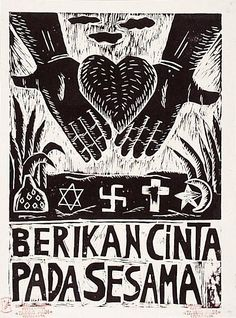 Since 1998 a group of young Indonesian artists and activists from Yogyakarta, a city in central Java, wearing punk hairstyles and tattoos and calling themselves the 'Lembaga Budaya Kerakyatan Taring Padi', or the Organisation of People's Culture Fangs of Rice, have initiated an art movement opposed to the 'art business' in galleries because of its obvious associations with capitalism. Living and working in a deserted school building, they design images, posters, banners, cartoons and…