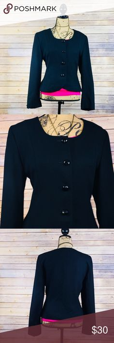 Vintage Dior.        Need I say more?? If clothes make you happy, then get ready for pure ecstasy. Vintage Christian Dior blazer. 100% wool woven together into fashion perfection. Tulip front blazer.  No trades, no holds Christian Dior Jackets & Coats Blazers