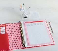 Personalise the 7 tab dividers with stickers to fit your unique lifestyle and slip essential manuals and warranties into plastic pockets under the corresponding tab each time you make a purchase. #kikkik #manuals #warranties #organise