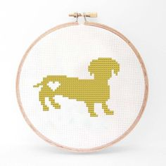 Karla Altuna: Dachshund Cross Stitch Kit
