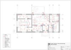 Elektryka schemat, gniazdka, lampy, kinkiety / Раскладка электрики, розетки, лампы, выключатели Residential Architecture, Floor Plans, Projects, Floor Plan Drawing