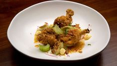 This crispy Boxing Chicken is delicious served with a Sticky Orange Glaze and Parsnip Puree. Crispy Chicken, Fried Chicken, Chicken Meals, Chicken Recipes Australia, Masterchef Recipes, Parsnip Puree, Masterchef Australia, Asian Cooking, Gourmet Recipes