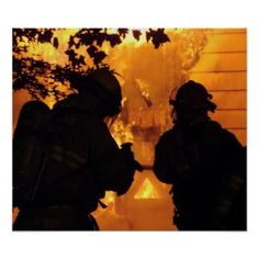 Firefighter Photography Posters and Firefighting Art Logo