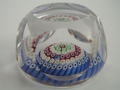 Whitefriars Concentric Millifiori Glass Paperweight