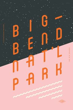 type and layout inspiration Type Hike is a collaborative design project that take a look at the US national parks from a typographic perspective. 60 designers have each created a poster about a national park, type being the m… Layout Design, Graphisches Design, Flyer Design, Print Design, Branding Design, Logo Design, Creative Design, Booth Design, Interior Design