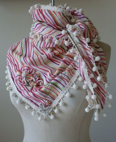 One of my personal favorites! Scarf in multicolored stripes pattern with by designsbyaa on Etsy, $35.00