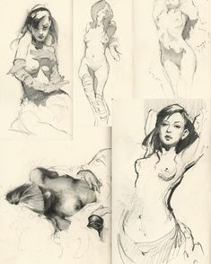 """211 Likes, 1 Comments - Jeremy Mann (@redrabbit7) on Instagram: """"Some morning sketches in the Collector's Editions of vol. 1.7 The Sketchbooks.."""""""