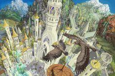 Хурин и Хуор в Гондолине Hurin and Huor are landing in Gondolin by Mysilvergreen on DeviantArt Illustrations, Illustration Art, Elven City, O Silmarillion, History Of Middle Earth, Jrr Tolkien, Fantasy Inspiration, Medieval Fantasy, The Hobbit