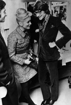 Catherine Deneuve and Yves Saint-Laurent, 1968.