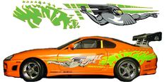 Image for Toyota Supra Fast And Furious Decals