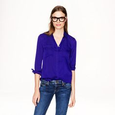 Silk pocket blouse. A Very Secret Pinterest Sale: 25% off any order at jcrew.com for 48 hours with code SECRET.