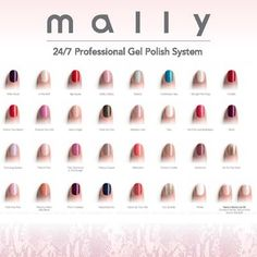 Mally Gel Nail System colors!!! XXX