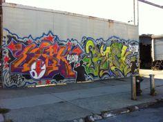 Street art on King Street between Van Brunt and Conover in Red Hook.