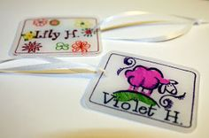 lazy momma's scrapbook: Shrinky Dink Name Tag Tutorial