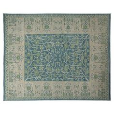 "Check out this item at One Kings Lane! 9'7""x7'10"" Nagina Rug, Light Blue"
