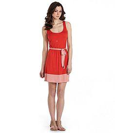 Kensie SelfTie Colorblock Dress