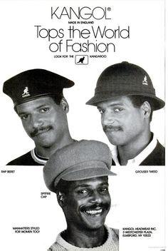 Jet Magazine. September 2nd, 1985.via http://vintageblackads.tumblr.com/ #kangol