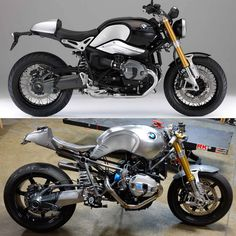 Church of Choppers BMW R9T / Before and afters