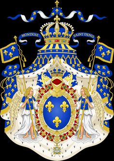 Grand Royal Coat of Arms of France.svg The House of Bourbon ruled from the time of Henri IV, the King of Navarre, coming to the throne and converting to Catholicism. Louis XIV was his grandson. Kingdom Of Navarre, Bourbon, Karl Iv, Luis Ix, Hugues Capet, Ludwig Xiv, French Royalty, Templer, French History