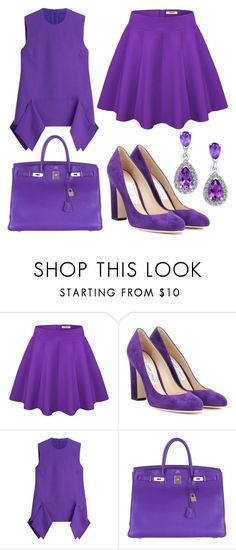 """""""25"""" by bswizzzlee ❤ liked on Polyvore featuring Jimmy Choo, Victoria, Victoria Beckham and Hermès"""