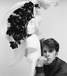 Philip Treacy, Vogue 1991~Irishman Philip Treacy is milliner to the stars, including Lady Gaga and Madonna. He was the creator of the 36 hats that we saw at the royal wedding — including Princess Beatrice's unforgettable hat. Now the celebrity hat-maker is the subject of a new book by photographer Kevin Davies.