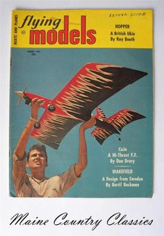 1959 Flying Models Magazine Airplanes, Plans, British Stunt, Aero Wasp Glider