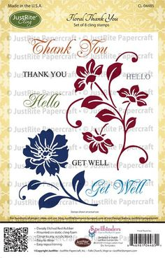 Floral Thank You Stamps