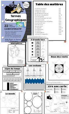 Tout pour enseigner les notions de base en géographie aux cycles 2 et 3// Cahier Interactif