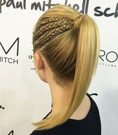 High Ponytail with Braids                                                                                                                                                                                 More