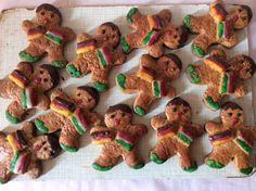 "Themed gingerbread figures: ""German-Hungarian friendship"""