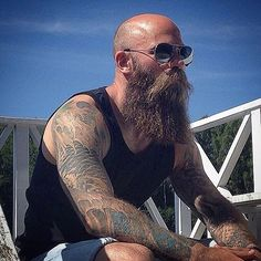Best Bald Blond Beard By Col