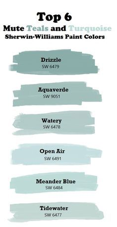 Top 6 Mute Teal and Turquoise Paint Colors. paint colors sherwin williams Top 6 mute teal and turquoise colors. Turquoise Paint Colors, Turquoise Painting, Paint Colours, Beachy Paint Colors, Wall Painting Colors, Teal Wall Colors, Light Blue Paint Colors, Vintage Paint Colors, Calming Paint Colors