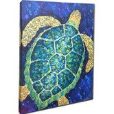 Found it at Wayfair - Sea Turtle Mounted by Giclee Gerri Hyman Painting Print on Canvas