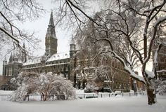One of the most beautiful campuses.  Georgetown University:  Washington, DC.  USA