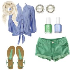 Summer greens and blues