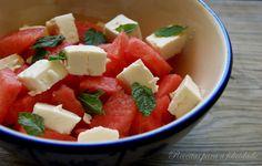Receitas para a Felicidade!: Salada de Melancia e Queijo Feta