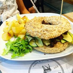 Brunch da Elk Bakery: Bagel Vegetariano http://www.bibiadvisor.it/brunch-elk-bakery-verona/