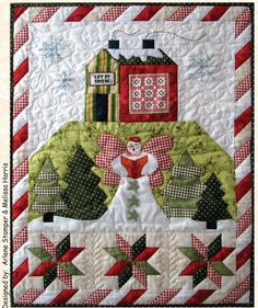 Angel's Winter Wishes wall hanging pattern by The Quilt Company