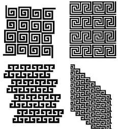 This is the key pattern motif. It is a classic design that consists of interlocking and repeated geometric designs. You will find this on buildings, vases, art, etc.
