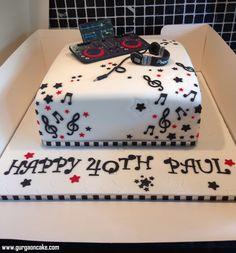 Dj Cake Wedding Ideas Pinterest Cricket Birthday Cake, Hubby Birthday, 18th Birthday Cake, Dj Cake, Cupcake Cakes, Music Cakes, Cake Pictures, Cake Pics, 50th Cake