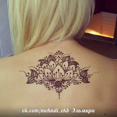 henna lotus tattoo
