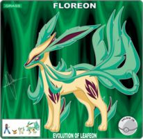 Floreon by miriakiko Pokemon Fake, Pokemon Fan Art, New Pokemon, Pokemon Fusion, Pokemon Sun, Pokemon Sketch, 30 Day Drawing Challenge, Pokemon Eeveelutions, Creature Concept Art
