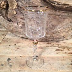 Ποτήρι Γάμου Κρασιού Χρυσή Λεπτομέρεια Λευκές Γραμμές Flute, Champagne, Tableware, Dinnerware, Tablewares, Flutes, Dishes, Tin Whistle, Place Settings