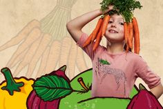 Meisje met wortels