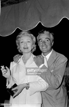 vittorio de sica and marlene dietrich during the movie montecarlo 1956