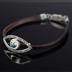 The Kind Eye Bracelet inlaid with Turquoise $109
